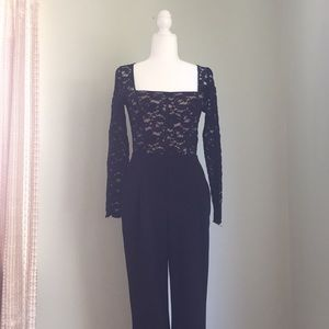 Express Lace Long Sleeve Dressy Jumpsuit